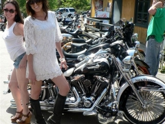 Hot Girls With Row Of Harleys