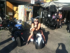 Ass Girl On Bike