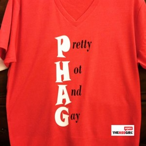 PHAG Red t-shirt - logo