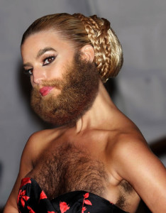 Jessica Simpson in a beard