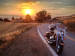 Rental-Harley-at-sunset